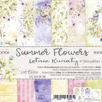 "Дизайнерски комплект хартии ""Summer Flowers"", 15см, Craft o'Clock"