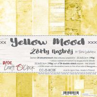 "Дизайнерски комплект хартии ""Basic 08 - Yellow Mood"", 20см, Craft o'Clock"