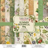 """Комплект дизайнерски хартии """"Summer botanical diary"""", 20см, Fabrika Decoru"""