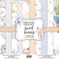 "Комплект дизайнерски хартии ""Sweet bunny"", 20см, Fabrika Decoru"