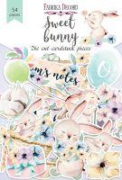 "Дизайнерски хартиени елементи ""Sweet bunny"", Fabrika Decoru"