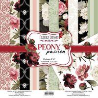 """Комплект дизайнерски хартии """"Peony Passion"""", 20см, Fabrika Decoru"""