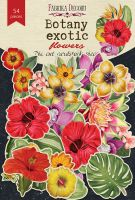 "Дизайнерски хартиени елементи ""Botany exotic flowers"", Fabrika Decoru"