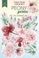 """Дизайнерски хартиени елементи """"Peony garden"""", Fabrika Decoru"""