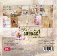 """Дизайнерско блокче хартии """"Blooming Grunge"""", 15см, Craft&You Design"""