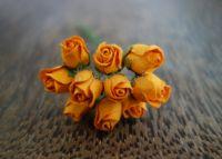 Пъпки на роза, цвят мандарина, 10мм