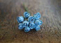 Пъпки на роза, сини, 10бр.