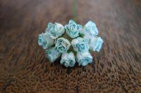 Пъпки на роза, синьо-бели, 10бр.