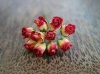 Пъпки на роза, жълто-червени, 10бр.