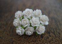 Рози, бели, 10мм.
