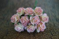 Рози, розово-жълти, 15мм