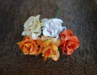 Къдрави рози, жълто-оранжев микс, 35 мм