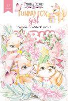 "Дизайнерски хартиени елементи ""Funny fox girl"", Fabrika Decoru"