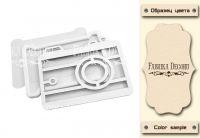 "Шейкър комплект ""Фотоапарат"" - млечен цвят, Fabrika Decoru"