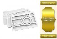 "Шейкър комплект ""Фотоапарат"" - златист цвят, Fabrika Decoru"