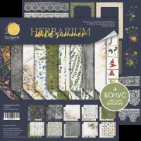 """Комплект дизайнерски хартии """"Herbarium Wild Summer"""", 30см, Scrapmir"""