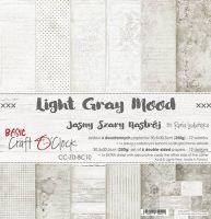 """Дизайнерски комплект хартии """"Basic 10 - Light Grey Mood"""", 30.5см, Craft o'Clock"""