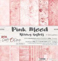 """Дизайнерски комплект хартии """"Basic 11 - Pink Mood"""", 30.5см, Craft o'Clock"""