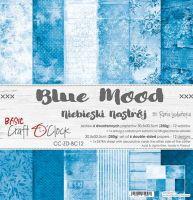 "Дизайнерски комплект хартии ""Basic 12 - Blue Mood"", 30.5см, Craft o'Clock"