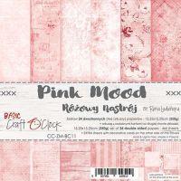 """Дизайнерски комплект хартии """"Basic 11 - Pink Mood"""", 15см, Craft o'Clock"""