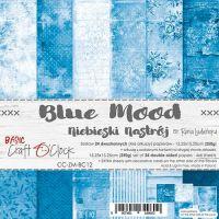 "Дизайнерски комплект хартии ""Basic 12 - Blue Mood"", 15см, Craft o'Clock"