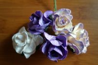 Къдрави рози, лилав микс, 35 мм