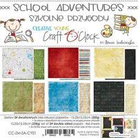 """Дизайнерски комплект хартии """"School Adventures"""", 15см, Craft o'Clock"""