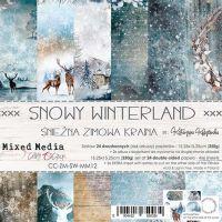 "Дизайнерски комплект хартии ""Snowy Winterland"", 15см, Craft o'Clock"