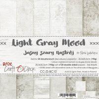 """Дизайнерски комплект хартии """"Basic 10 - Light Grey Mood"""", 20см, Craft o'Clock"""