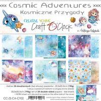 """Дизайнерски комплект хартии """"Cosmic Adventures"""", 20см, Craft o'Clock"""