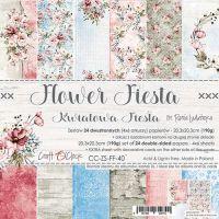 """Дизайнерски комплект хартии """"Flower Fiesta"""", 20см, Craft o'Clock"""