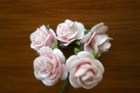 Рози от мълбери хартия, светлорозови, 20 мм