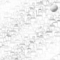 "Дизайнерски ацетатен лист ""Къщички-сребристи"", Kora Projects"