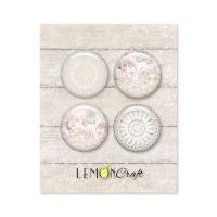 "Скрапбукинг копчета ""Linen Story"", 4бр., Lemoncraft"