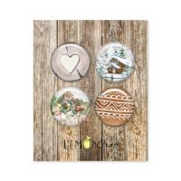 "Скрапбукинг копчета ""Natural Christmas"", 4бр., Lemoncraft"