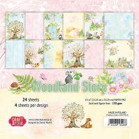 """Дизайнерско блокче хартии """"Woodland Story"""", 15см, Craft&You Design"""