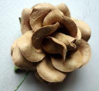 Кафява роза от мълбери хартия, 50 мм