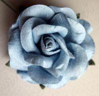 Синя роза от мълбери хартия, 50 мм