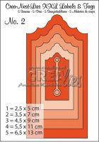 Комплект щанци за изрязване на тагове - вариант 2