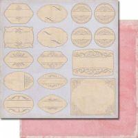 """Лист дизайнерска скрапбукинг хартия (250 гр/м2) с визия 16 етикета- """"Soulmates - Not about labels"""""""