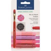 Акварелни пастели Faber Castell червени