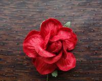 Къдрава роза, 50мм, червена.