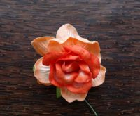 Къдрава роза, 50мм, оранжева.