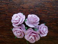 Рози от мълбери хартия, цвят лилав, 20mm