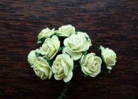 Рози, светлозелени, 15мм