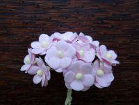Цветенца от мълбери хартия, св.розови, 15мм