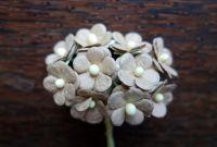 Цветенца от мълбери хартия, кафяви, 15мм