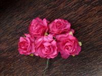 Пухкави цикламени рози, 30мм