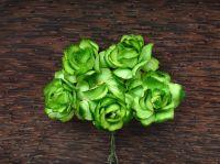 Пухкави зелени рози, 30мм