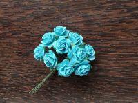 Рози в цвят тюркоаз, 15мм